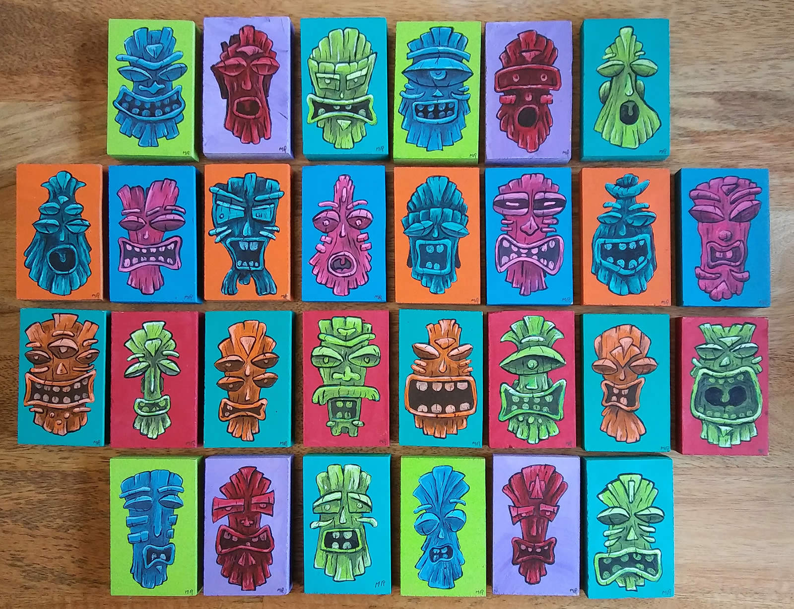 Tiki Art by Mike Rende available in the Mobile Art Machine