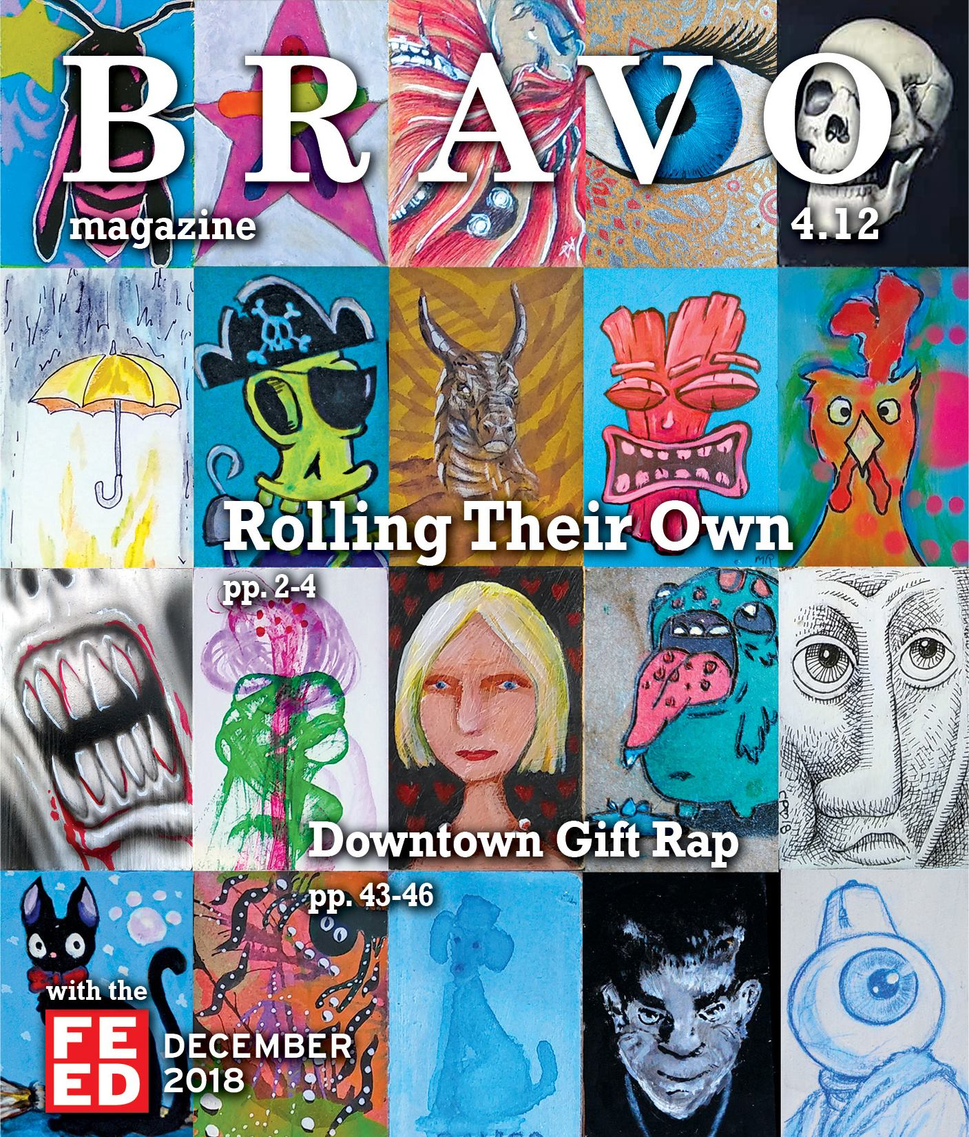 Bravo Magazine December Cover Features the Mobile Art Machine