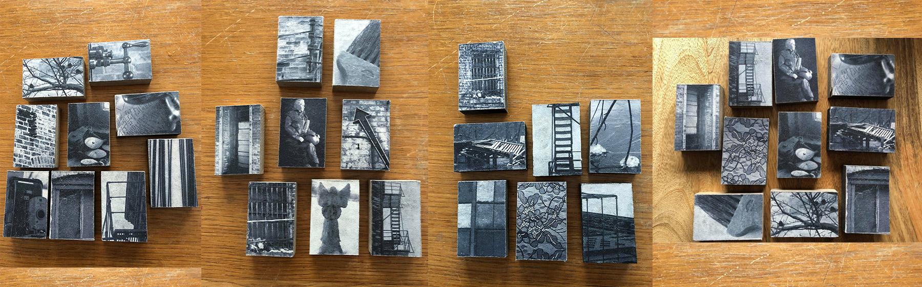 New Black and White Photo Art Blocks by Jane Erlandson