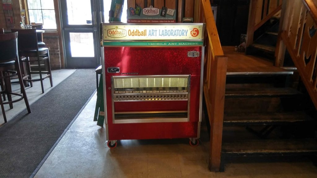 Oddball Art Labs Mobile Art Machine at Danny's on Douglas in Elgin