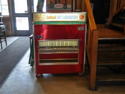Oddball Art Labs Mobile Art Machine at Danny's on Douglas in Elgin
