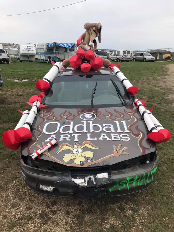 Oddball Art Labs Demolition Derby Car