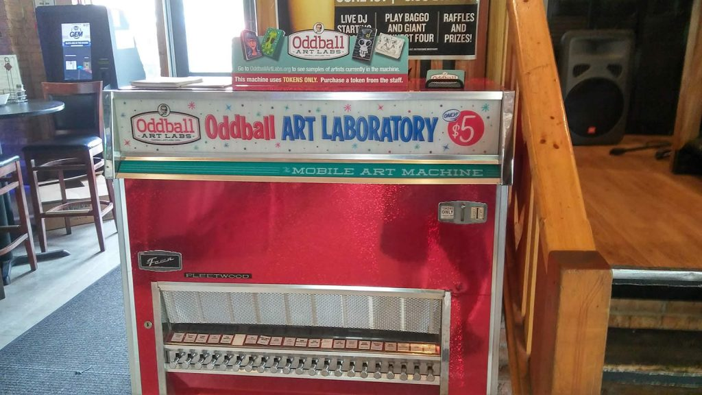 Oddball Art Labs Mobile Art Machine at Danny's on Douglas