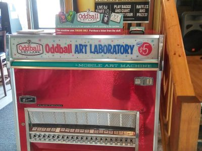 Oddball Art Labs Mobile Art Machine at Danny's on Douglas