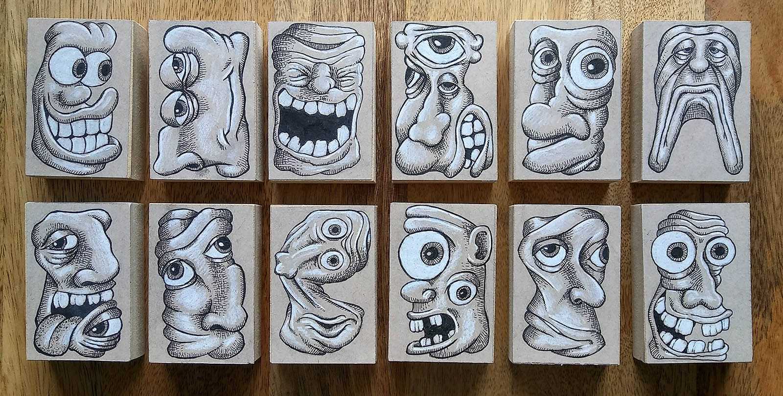 Ooky Faces Art Blocks by Chris Palm