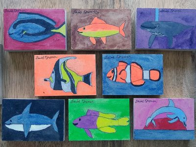 Ocean Animal Art Blocks by David Bremer