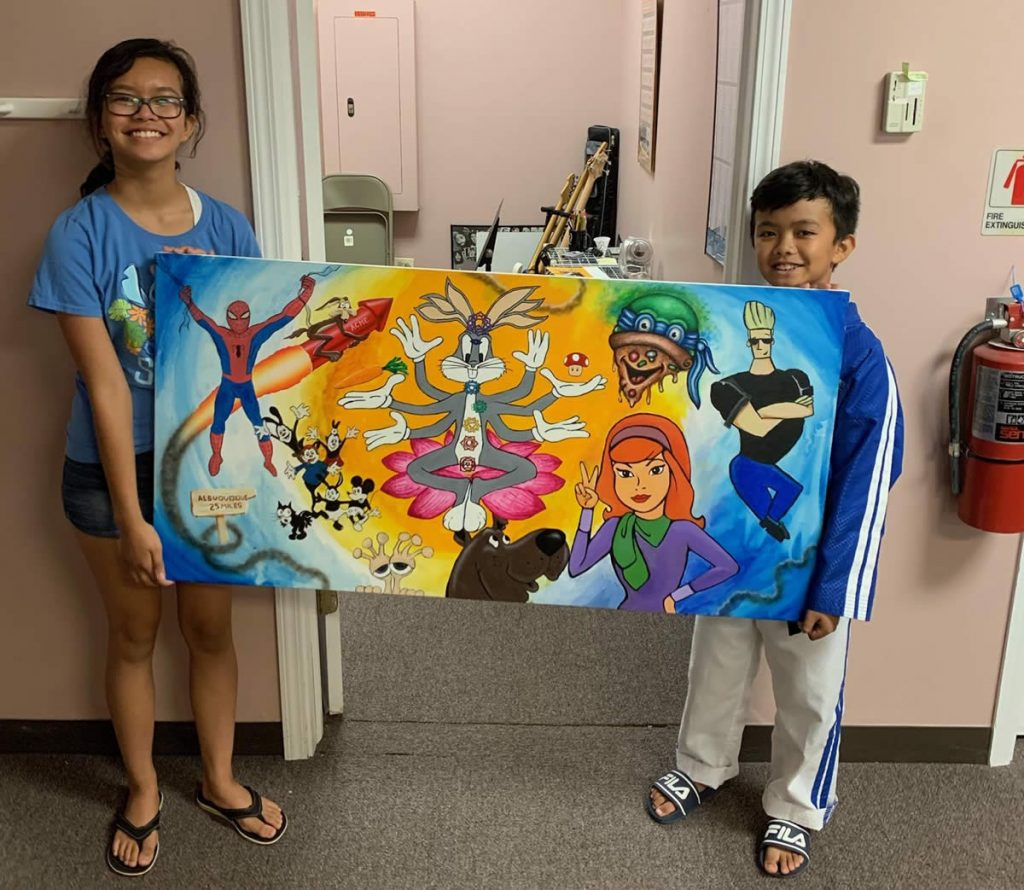 Cartoon Cavalcade Jam Painting Winners