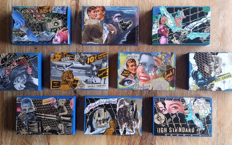 Daniel Burke Blue Borders Collages