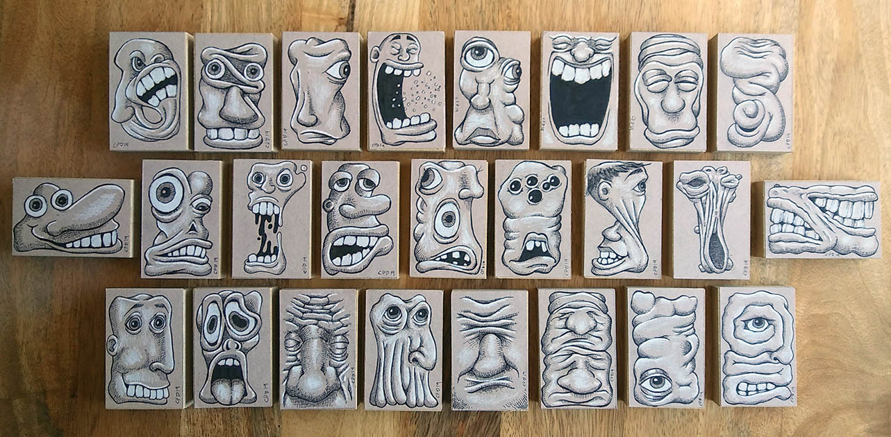 """A new set of """"Ooky Faces"""" by Chris Palm"""
