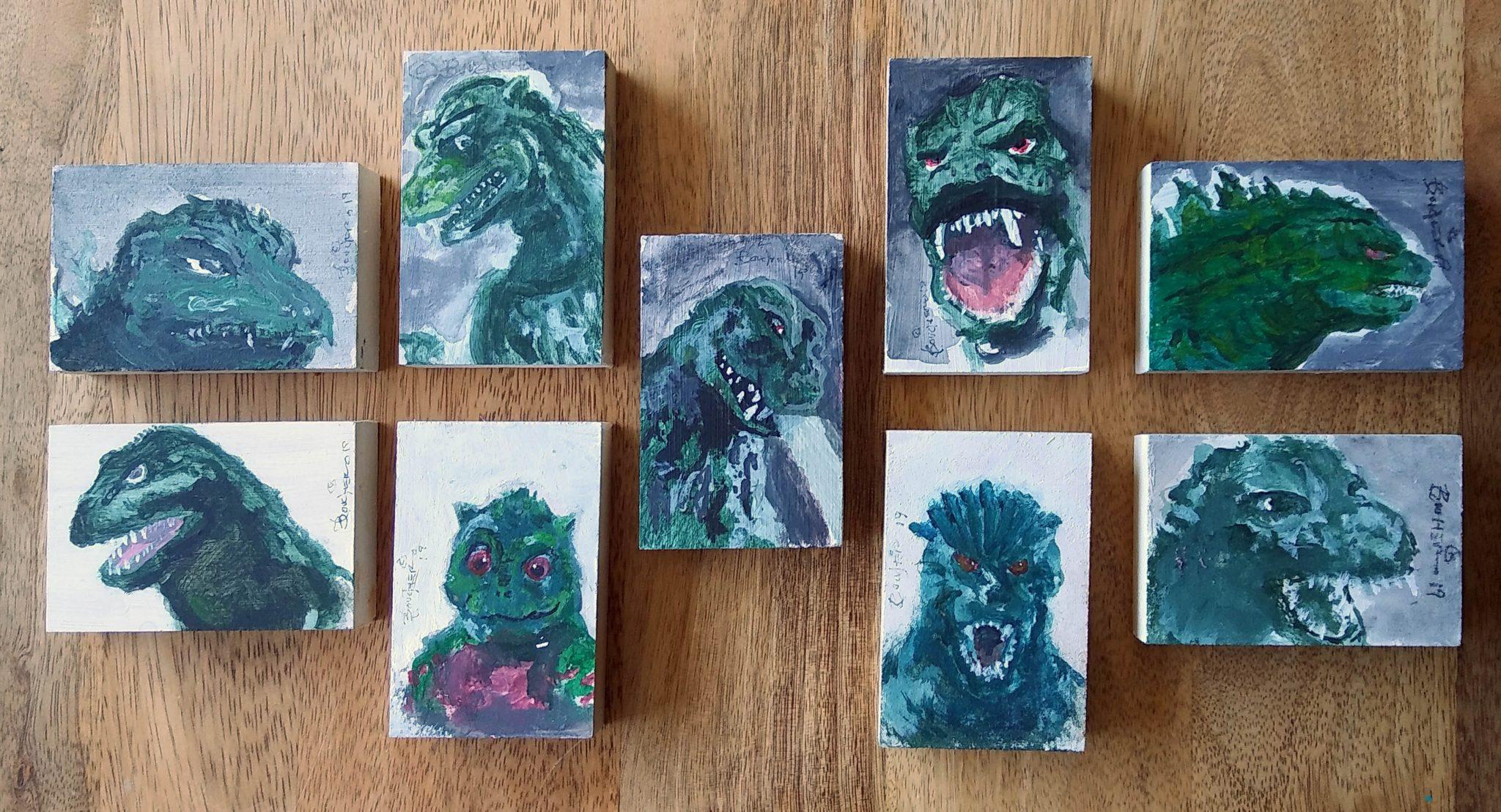 """Godzilla Art Blocks by Lance """"Doc"""" Boucher"""