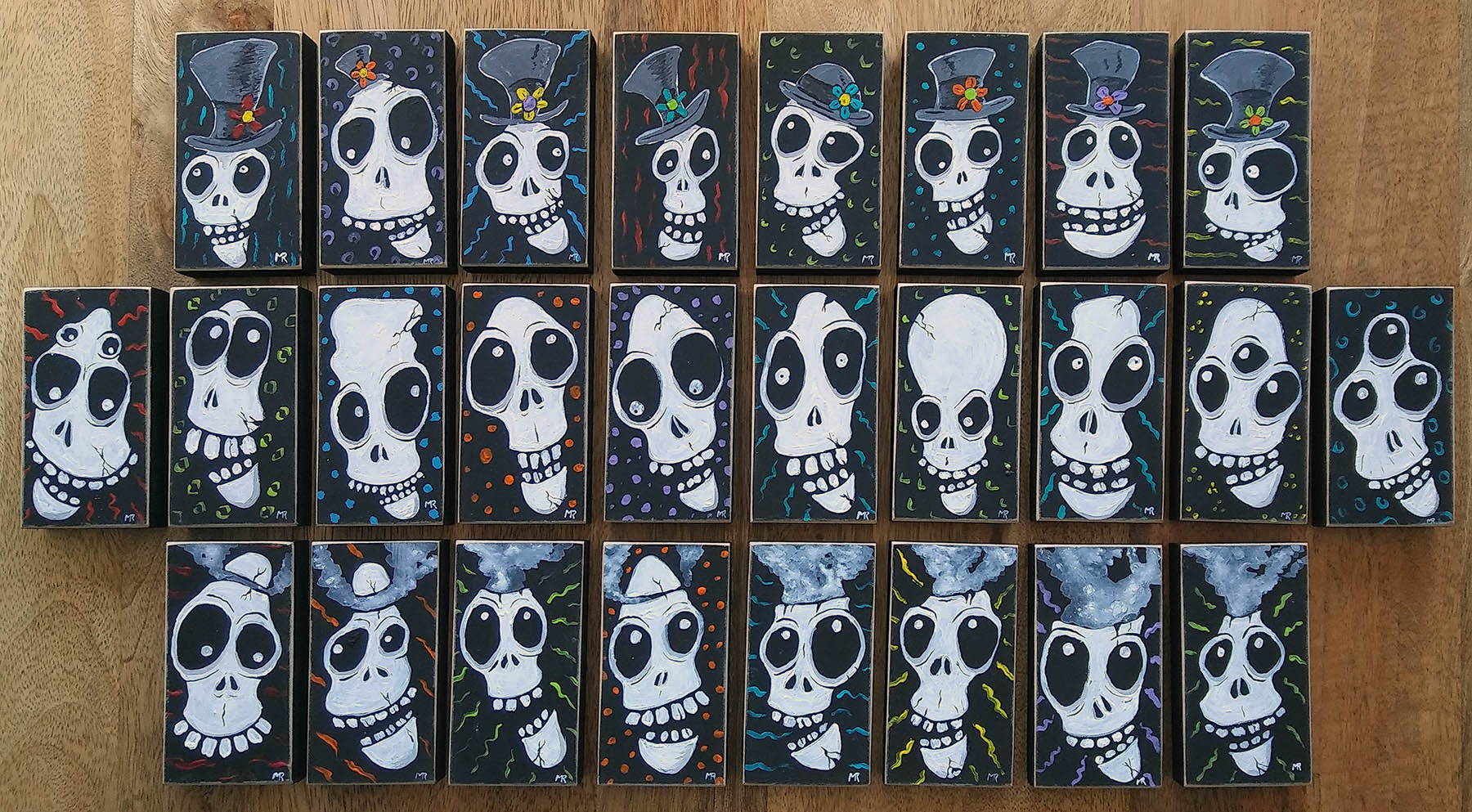 New Skulls by Mike Rende in the Mobile Art Machine