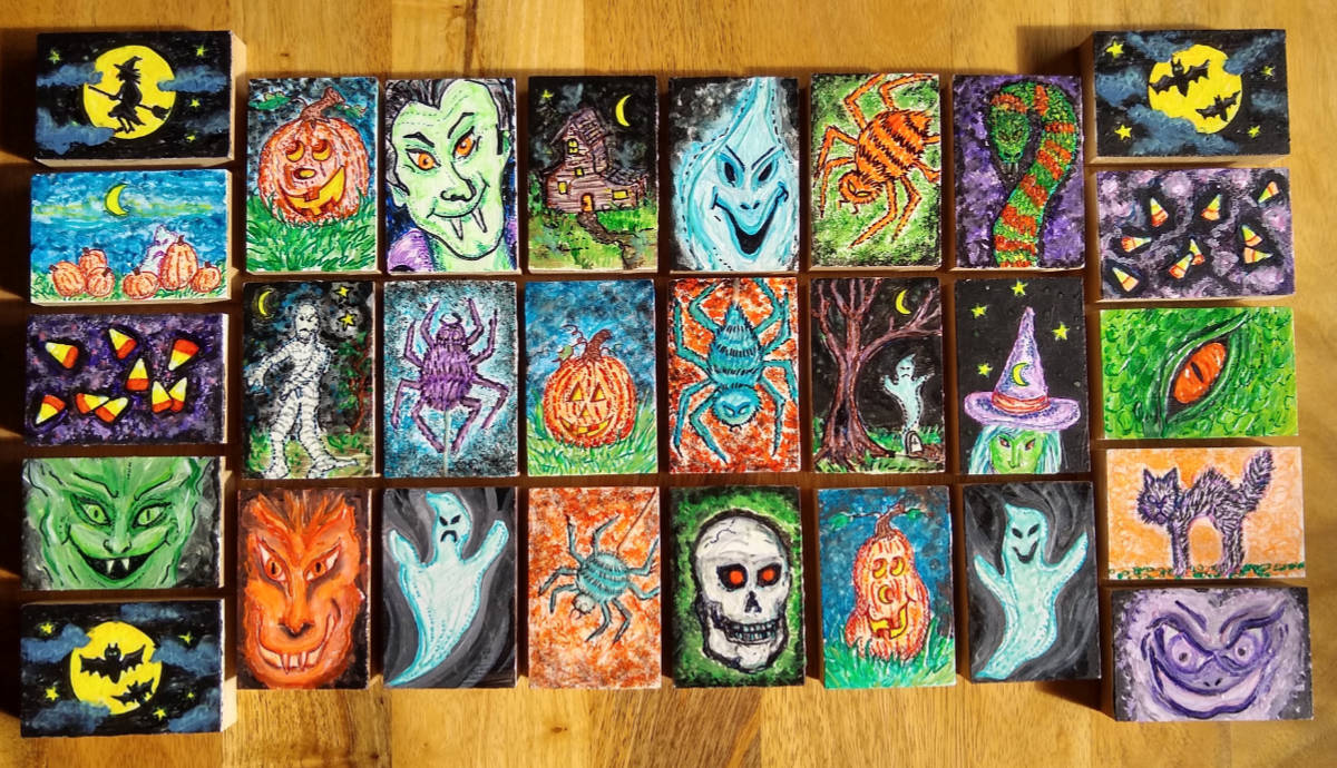 Glow in the Dark Art Blocks by Kimberly Witz