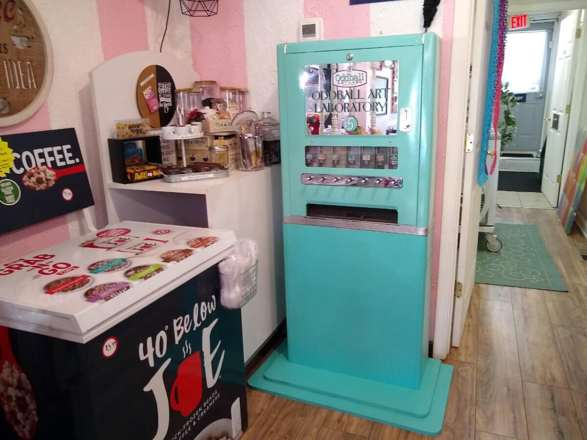 Oddball Mini Mobile Art Machine at Cook's Sweet Boutique in Elgin