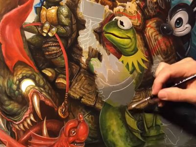 """Inspiration for the day! The mastery of Greg """"Craola"""" Simkins"""